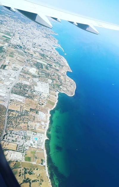 Puglia se vedea frumos si din avion, dar cine stia cat de frumos se va vedea de la sol
