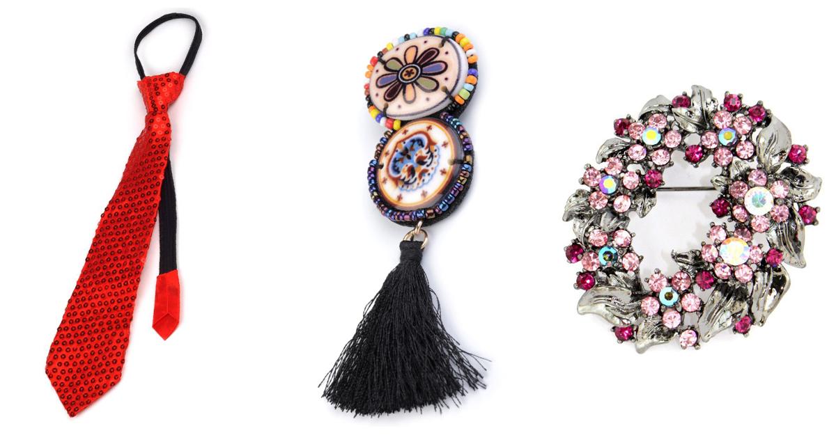 Accesorii material textil cu brose