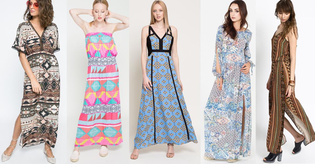 Cele mai chic rochii vaporoase cu pattern etno