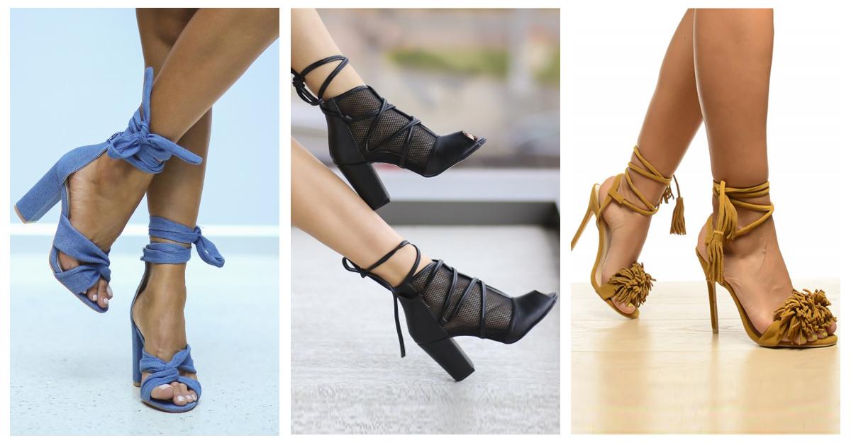 Sandale cu curele din piele