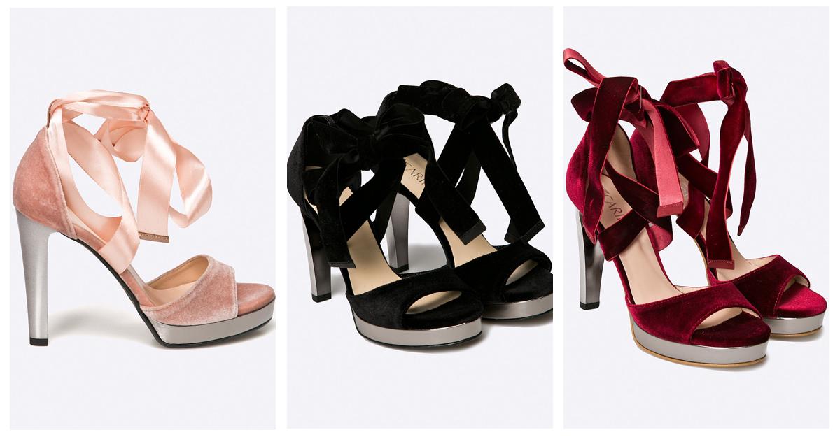 Sandale cu curele din satin si catifea