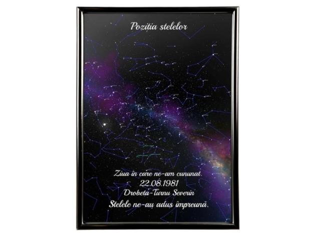 cadou de craciun personalizat harta cerului