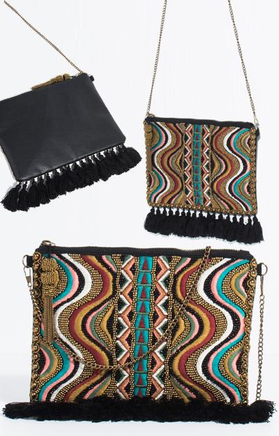 Poarta o geanta cu influente etno