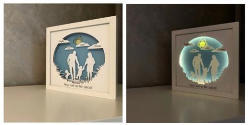cadouri de Craciun handmade tablou luminos