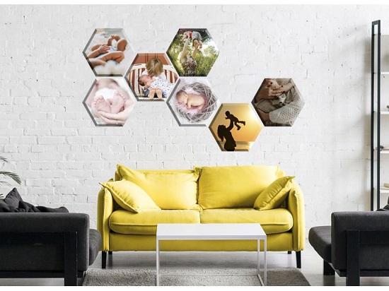 cadou personalizat de Craciun set hexagonal