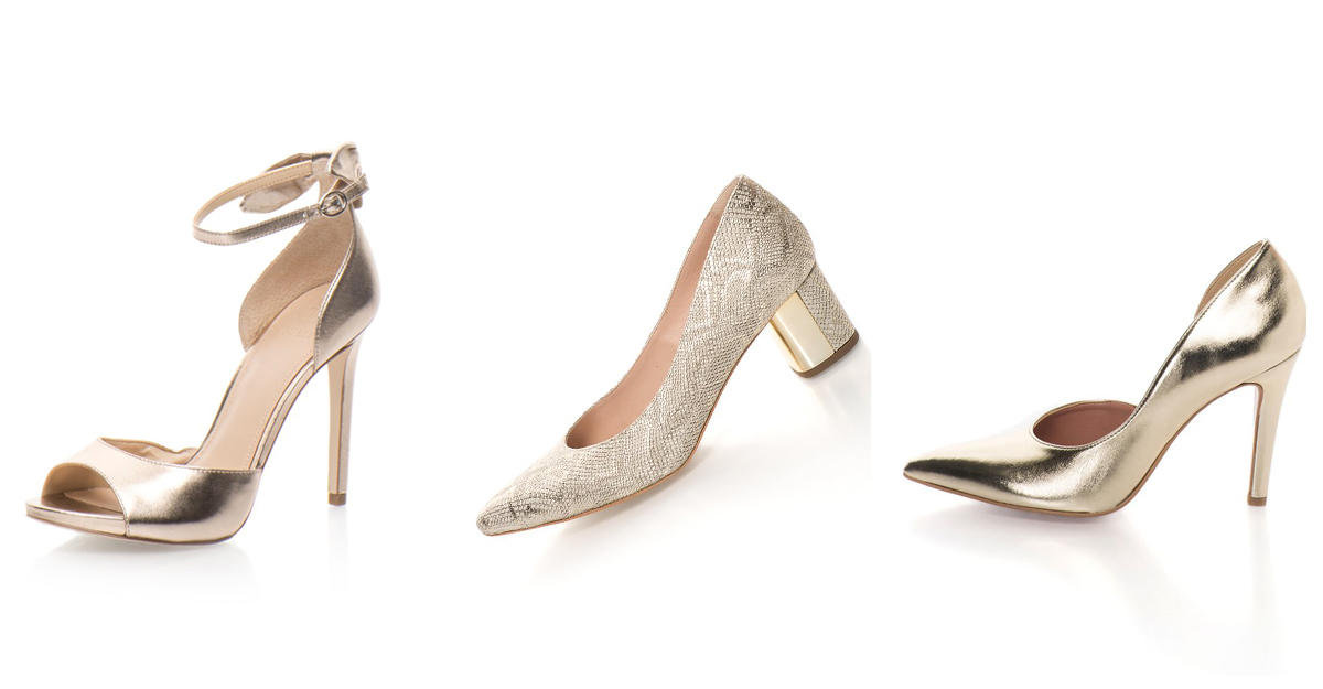 Pantofi metalici cu toc pentru tinuta casual