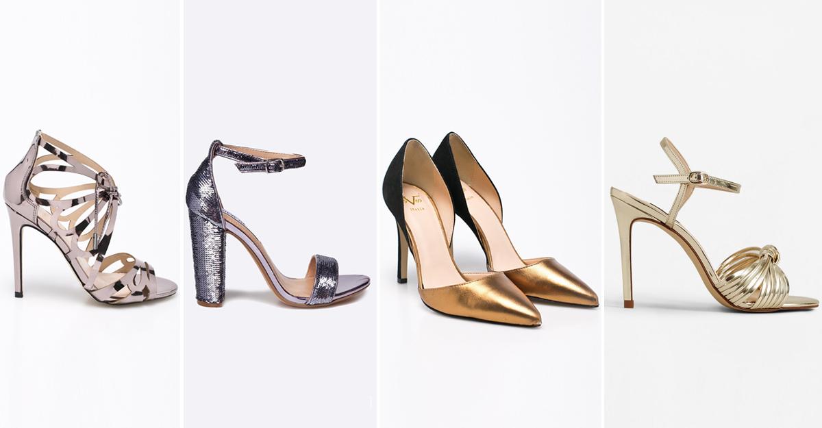 Alege pantofi argintii sau aurii seara