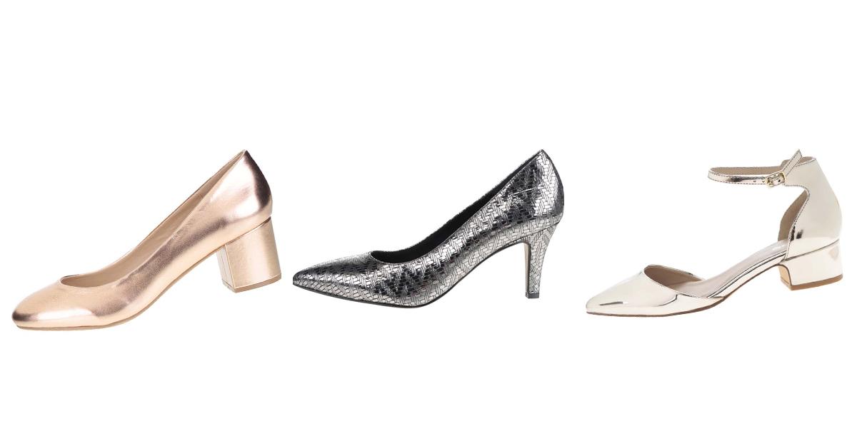 Alege pantofi metalici cu toc si la birou