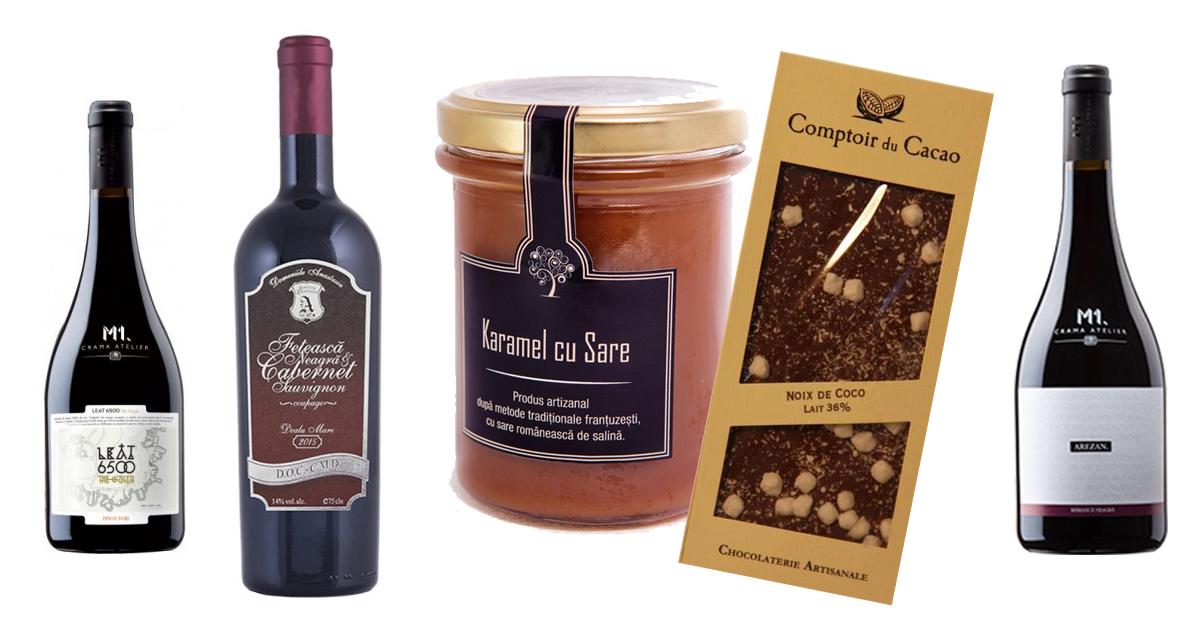 Alege vinuri si produse gourmet pentru seri in doi