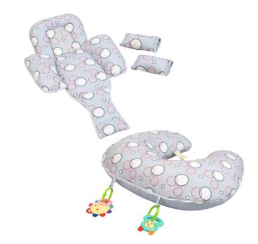 perna pentru alaptare cu accesorii suport bebe