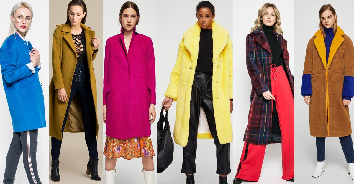 Alege paltoane din stofa colorata