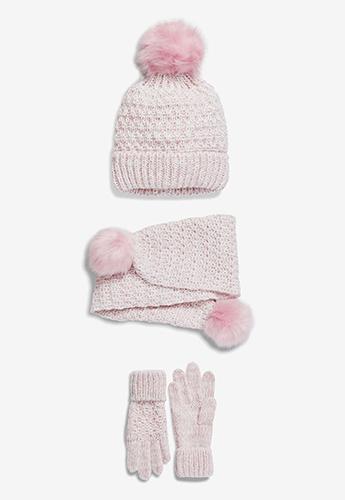 set roz caciula fular manusi fete reduceri black friday fashion days