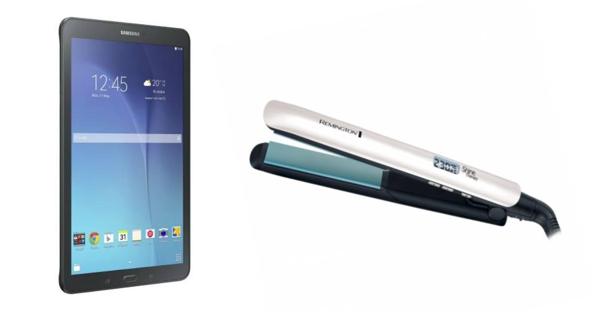 Tableta Samsung si Placa pentru indreptat parul