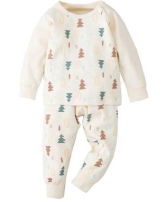 pijama de iarna pentru copii din bumbac organic unisex
