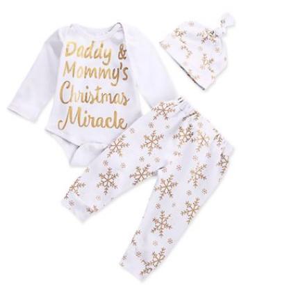 set 3 piese pijamale de craciun copii