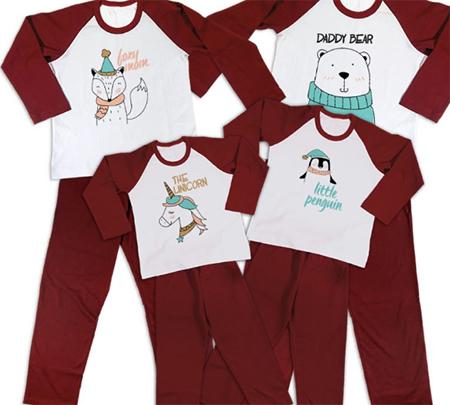 pijamale de craciun personalizate pentru intreaga familie