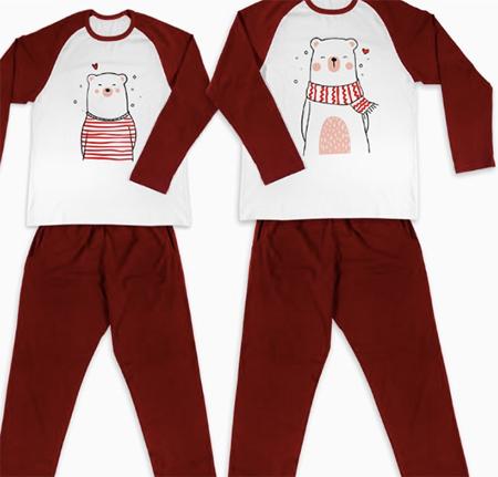 pijamale de craciun pentru cupluri, personalizate