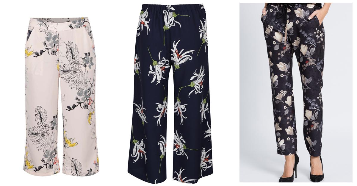 Pantaloni-culottes cu imprimeu floral
