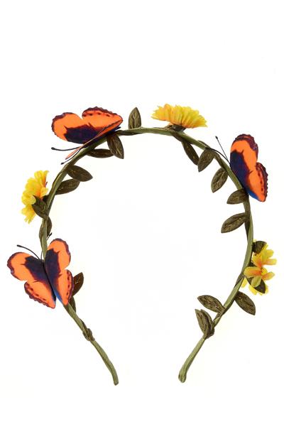 Coronita cu flori si fluturi