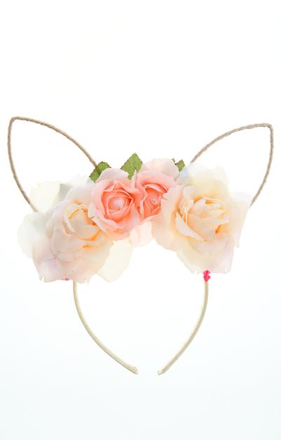 Coronita cu flori si urechi