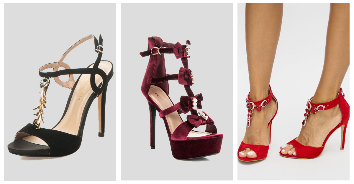 Sandale cu toc cu pietre si cristale