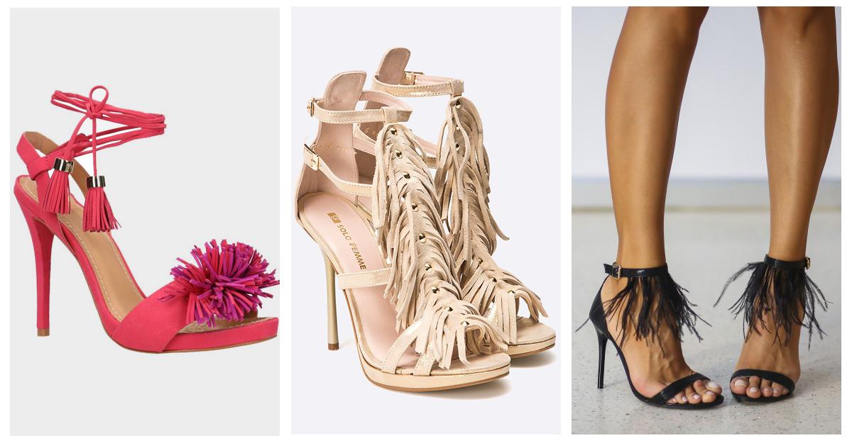 Sandale dama cu franjuri