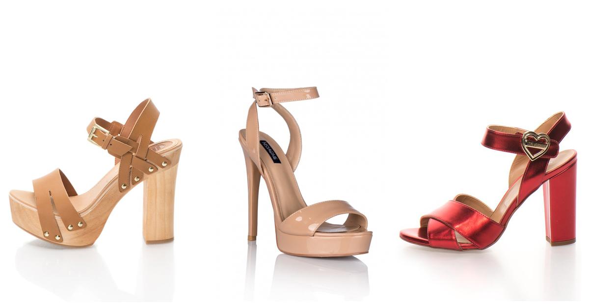 Sandale cu catarame aurii