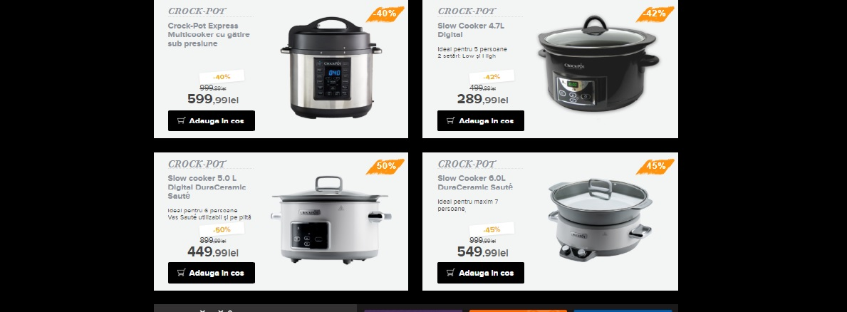aparat electric de gatit CrockPot de Black Friday 2018