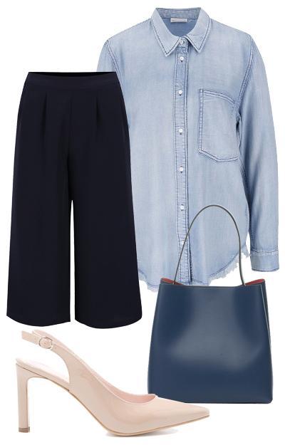 Poti purta camasa de blugi cu fusta-pantaloni