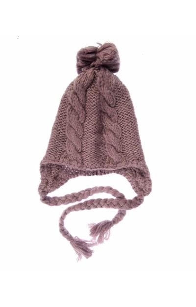 Caciula tricotata cu mot