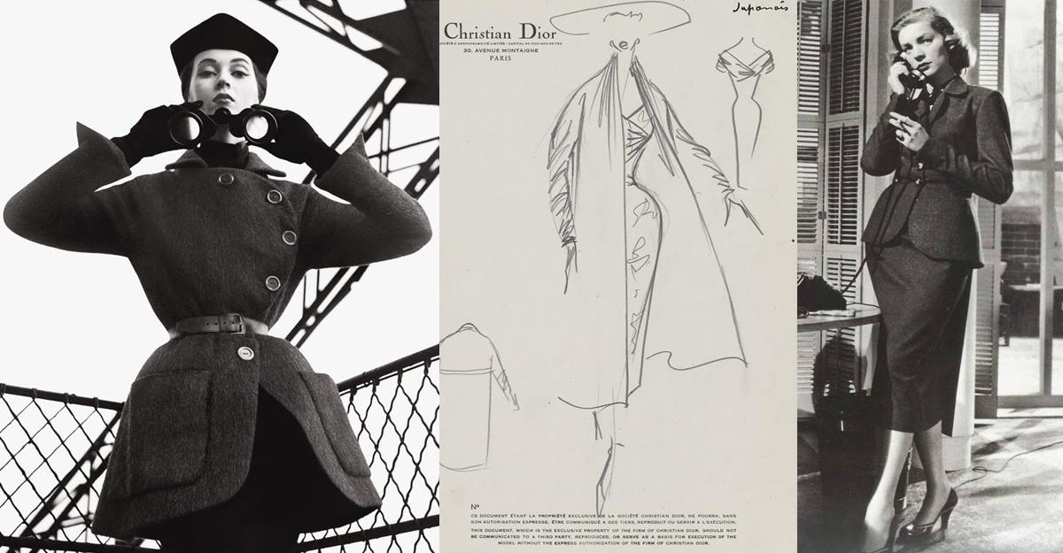 Casa de moda Dior a inventat feminitatea o data cu New Look in anii '50