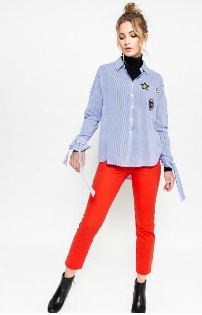 Pantaloni drepti rosii