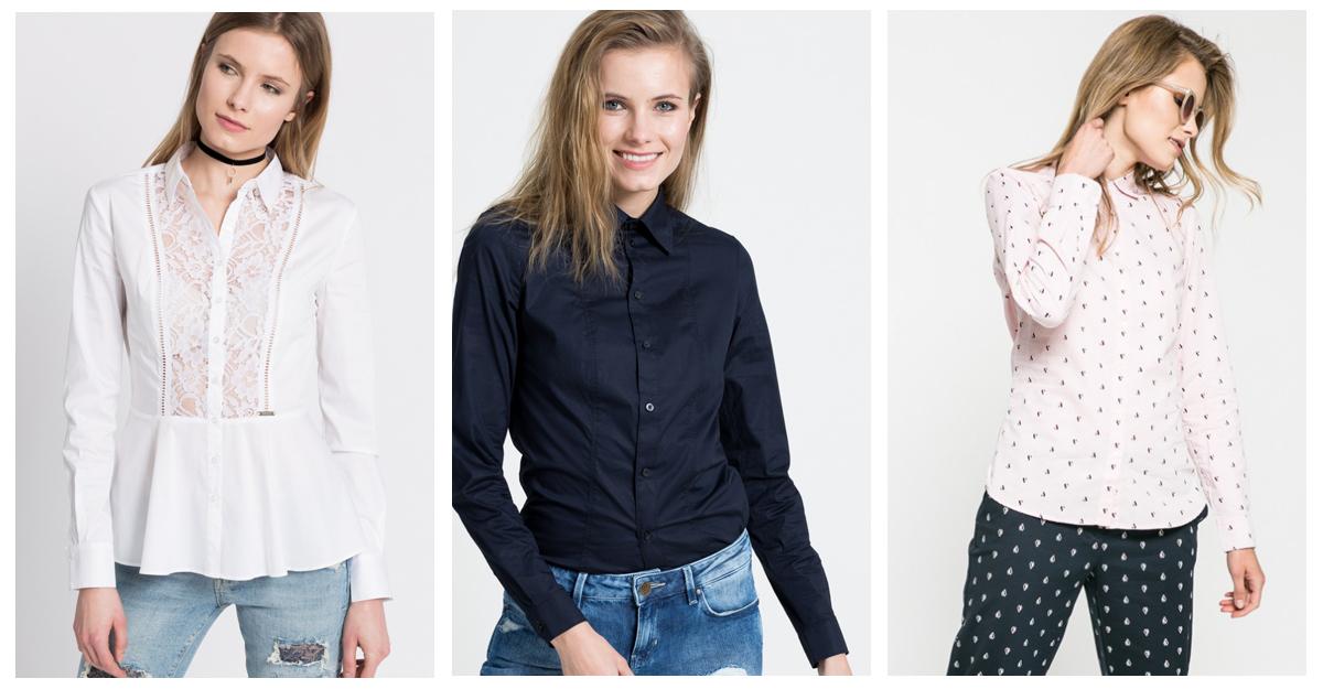 Alege camasi si bluze cambrate pentru un efect slim