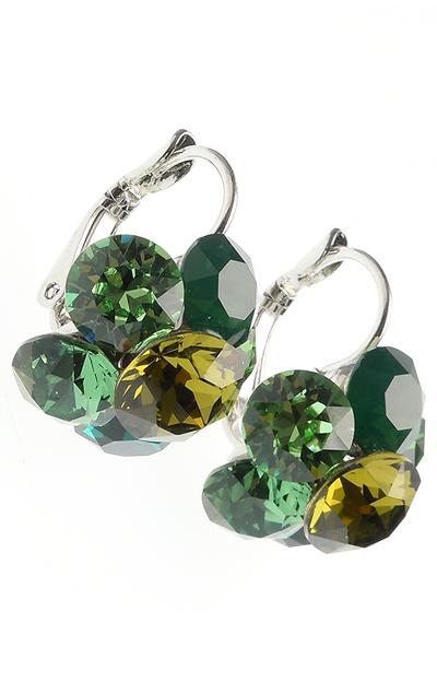 Cercei cu cristale verzi