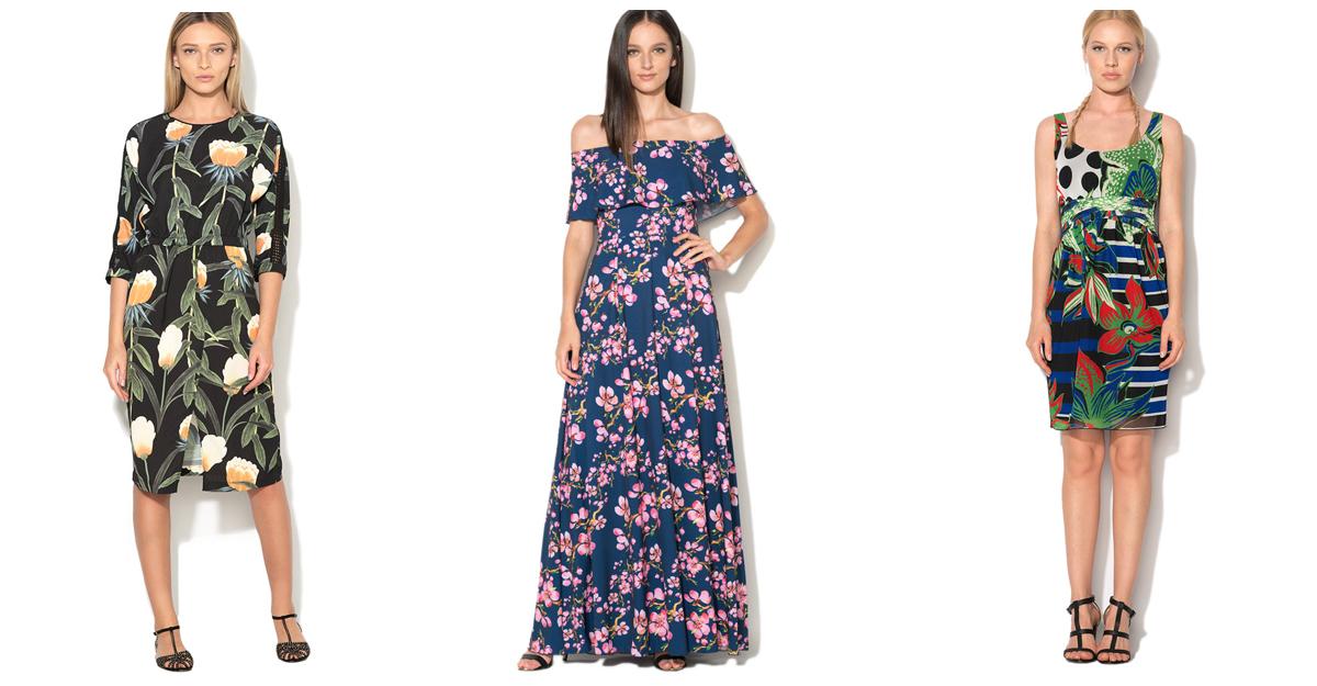 Cele mai chic rochii cu imprimeu exotic