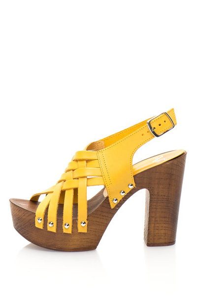 Sandale cu toc si platforma