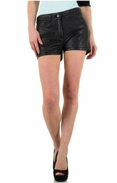 Pantaloni scurti din piele