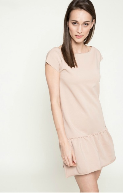 Rochie nude casual