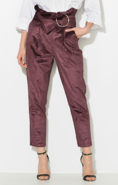 Pantaloni crop din reiat