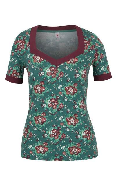 Tricou cu imprimeu floral