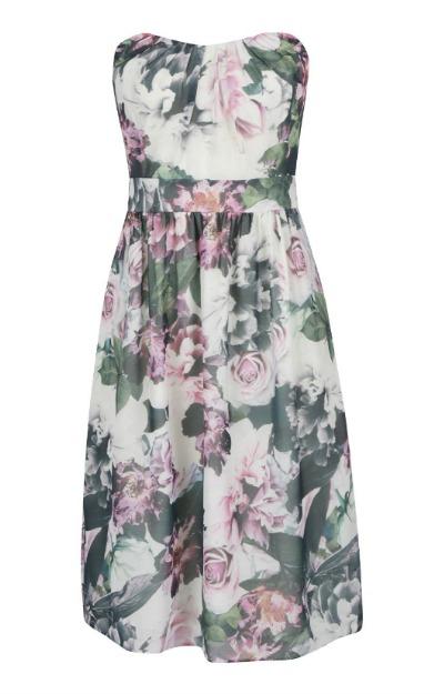 Rochie midi cu imprimeu floral