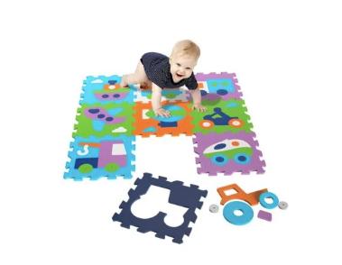 covor puzzle camera copilului