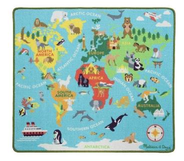 covor harta lumii pentru camera copilului