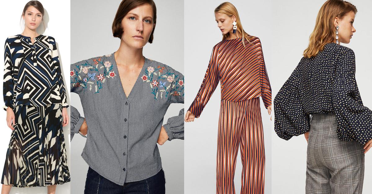 Bluze care avantajeaza silueta cu imprimeu