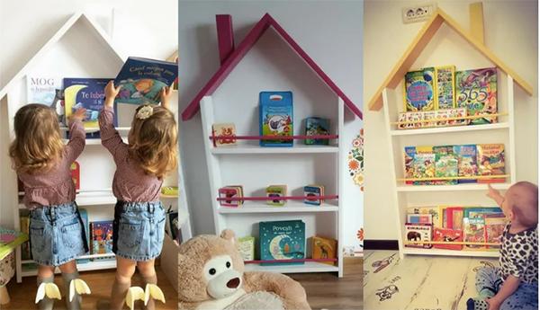 biblioteca casuta pentru copii