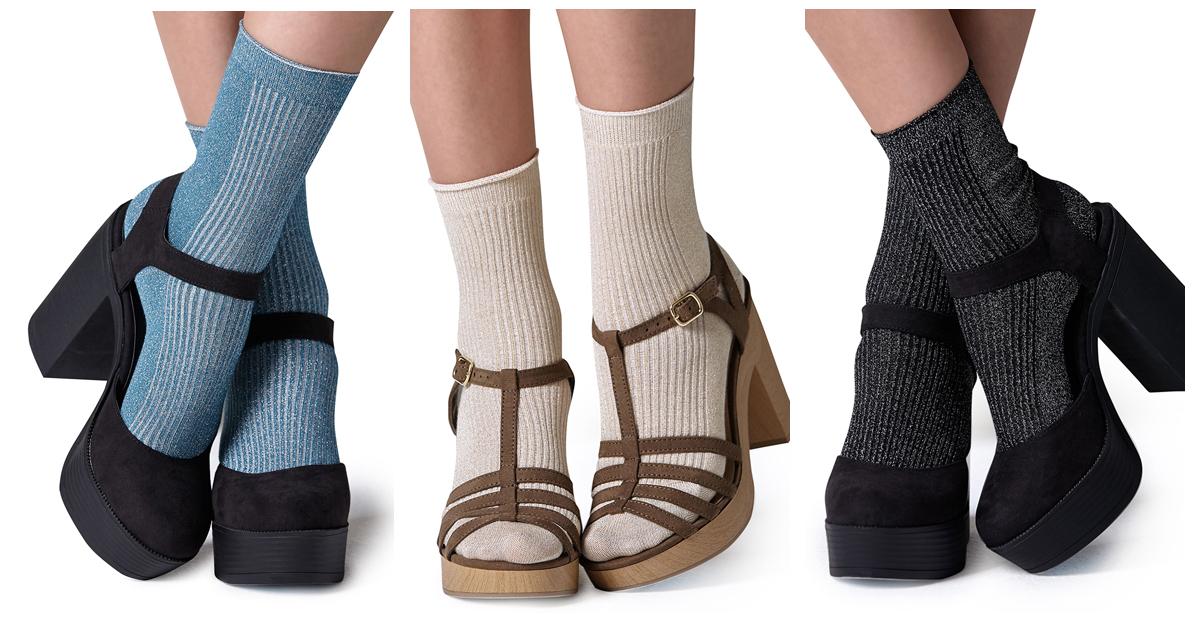 Sosete din bumbac pentru sandalele toc subtire si gros