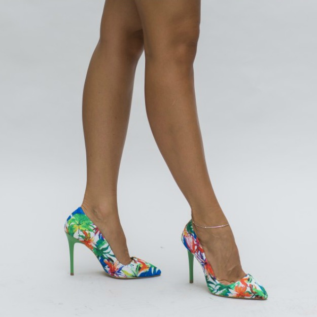 Pantofi multicolori