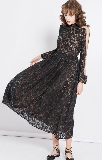 Rochie lunga cu dantela
