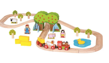 trenulet de lemn idei jucarii copii
