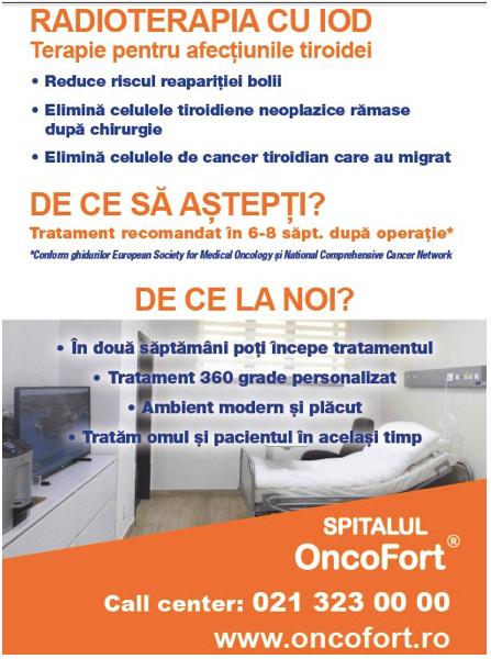 radioterapia cu iod gratuit la Oncofort